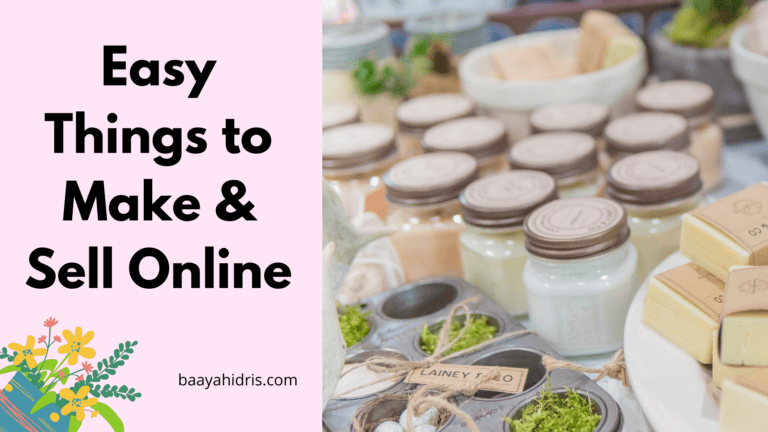 18 Easy Things To Make And Sell Online
