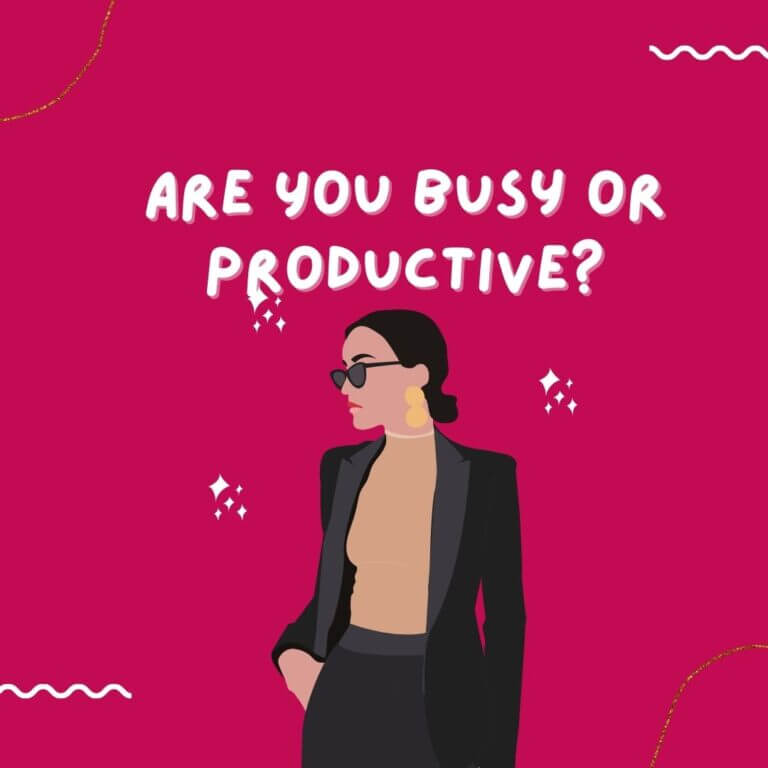 Are You Busy or Productive Person?